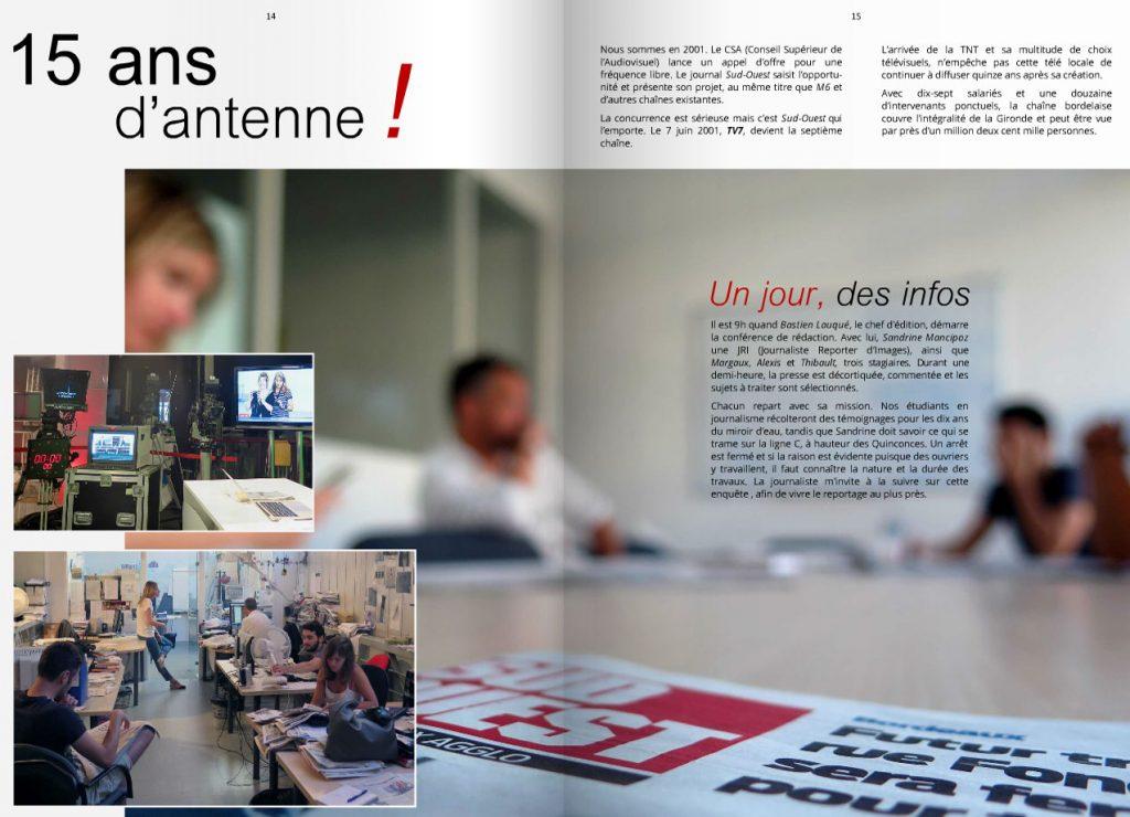 reportage sur la chaine TV7 à bordeaux avec les journalistes