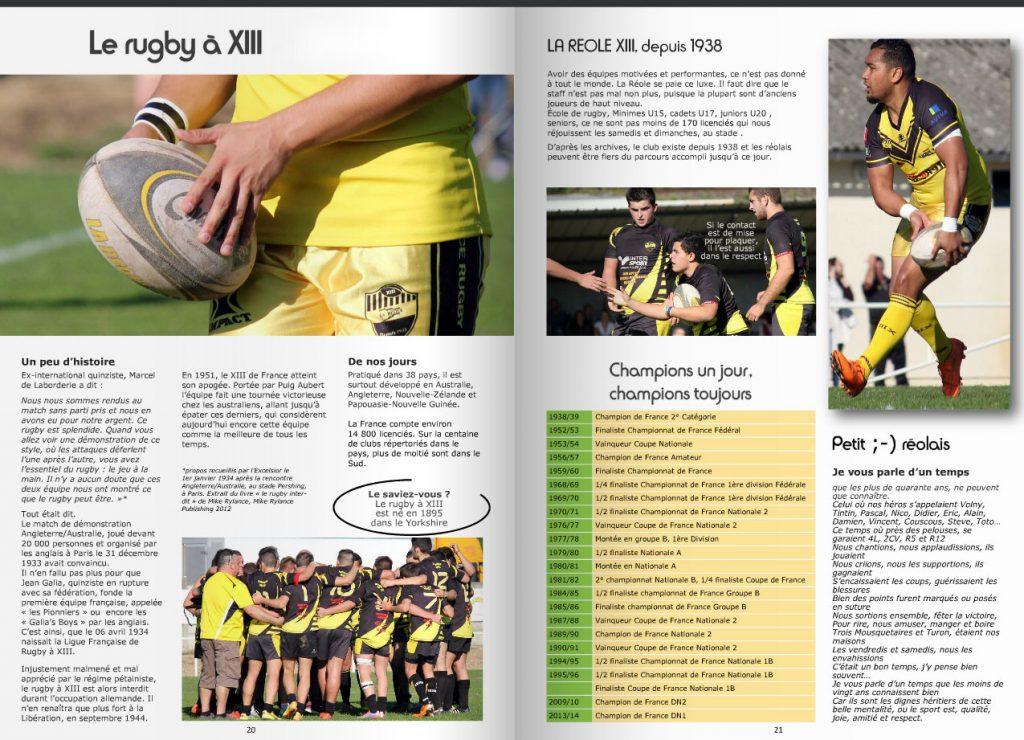 reportage sur le rugby à XIII club de la réole en gironde